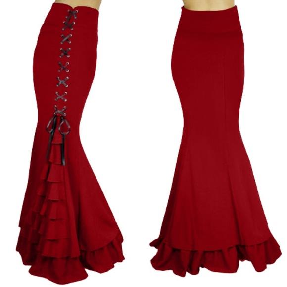 e57cb78db4585d Skirts | Long Plus Size Clothing Steampunk Gothic Skirt | Poshmark
